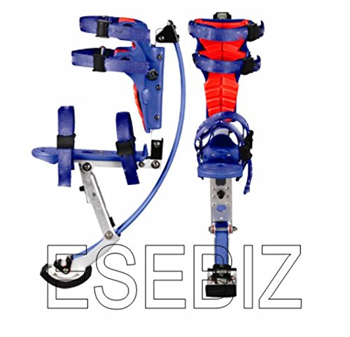 esebiz Skyrunner springstelzen Pogo Stelzen Spring Stelzen für Kid Jugend 88-132lbs/40-60kg, blau