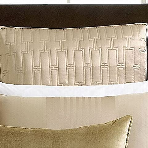 Hotel Collection Classic Stripe Euro gesteppt Sham Champagner