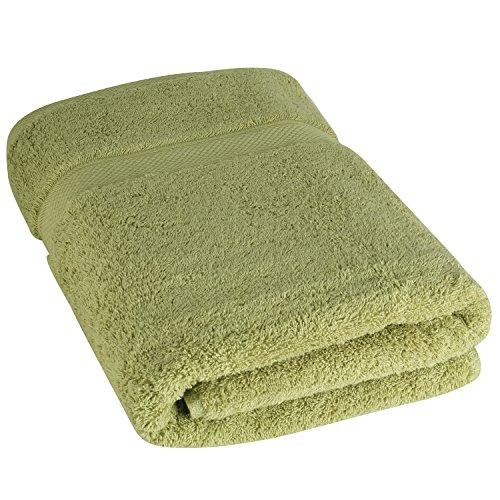 Luxuriöse Badetücher von Cosy Homery - Grün - 100% organische natürliche ägyptische Baumwolle 650 GSM - Mehrzweckgebrauch für Bad, Pool, Fitnessraum und Spa (Luxuriöse Ägyptische Baumwolle-bad)