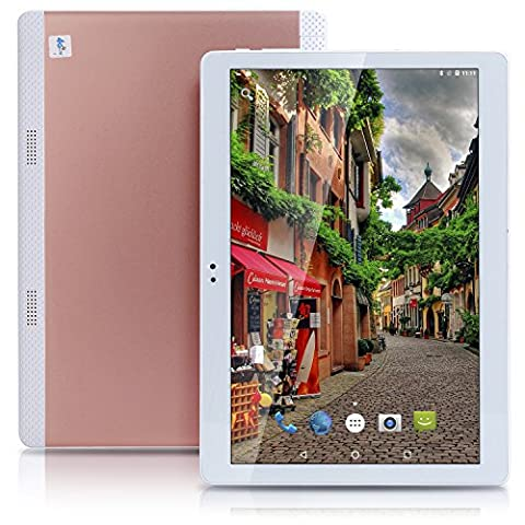 NEW Ultrathin 4G LTE 10 Inch Tablets Pc Octa core Android 6.0 Tablet Pc 16G Rom 4G Ram Dual sim dual standby 4G call WIFI 3G 7 10.1 GPS IPS Rose Gold