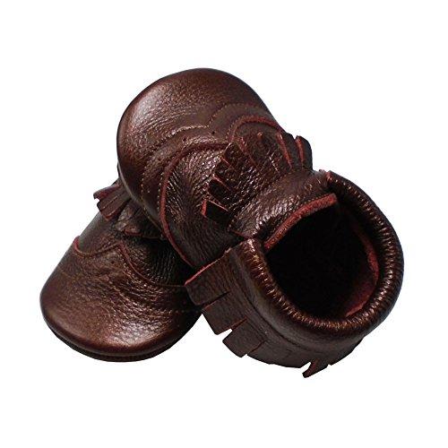 Mejale Weiche Sohle Leder Babyschuhe Lauflernschuhe Krabbelschuhe Kleinkind Kinderschuhe Hausschuhe Dunkelrot