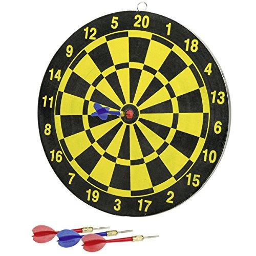 Unbekannt Dartscheibe AUD Kork Durchmesser 30 cm inklusive 4 Pfeilen • Dartspiel Darts Dartboard Dartpfeile Dartzubehör Dart Pfeile Set