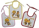1 Stk. Babylätzchen KLEIN Biene Maja / Willi aus weichem Frottee Unten mit extra Folie beschichtet - Lätzchen / Kinderlätzchen