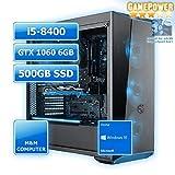 M&M Computer Dresden Gaming PC Esports, Intel i5-8400 Sixcore, GTX1060 6GB Gaming Grafikkarte, 480GB SSD, 16GB DDR4 RAM, Windows 10 Home