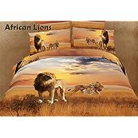 motif lion africain prsentoirs 6reine parure de lit 1 housse de couette