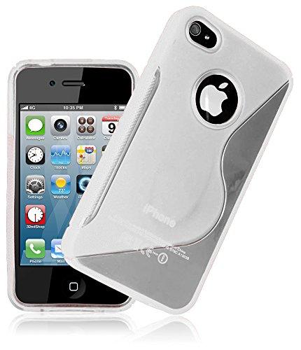 JAMMYLIZARD | S-Line Silikon Case Hülle für iPhone 4 und 4s, Klar KLAR