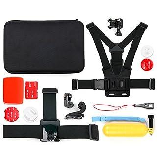 DURAGADGET Action-Kamera Zubehör-Set der Marke inkl. Hartschalen-Etui für die QUMOX SJ4000, SJ5000, SJ6000, Neewer Sport Camera WiFi und TONBUX Sport DV Kamera