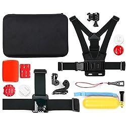 Duragadget Mallette + kit 12 Accessoires pour TecTecTec XPRO1, XPRO2 / XPRO 2+, XPRO3, XPRO 4 Caméra de Sport et Action Wi-FI HD et Ultra HD 4K - caméras de Sport