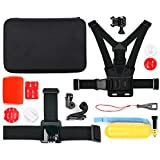 Mallette + kit 12 accessoires pour TecTecTec XPRO1, XPRO2 / XPRO 2+, XPRO3, XPRO 4 Caméra de Sport et Action Wi-Fi HD et Ultra HD 4K - caméras de sport - idéal en Ski, Surf, Paddle board, Vtt ,kayak etc... - DURAGADGET