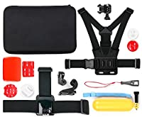 DURAGADGET Action Camera 14-in-1 Extreme Sports Essential Accessories Bundle with Hard EVA Case for the DBPOWER EX5000 14 MP HD 12MP 1080p Action Camera