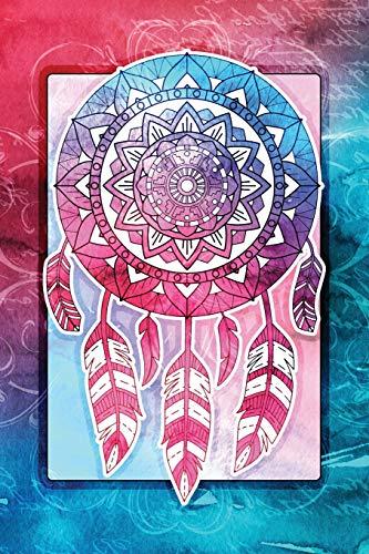 Dream Catcher Mandala Notebook: Lined Journal Native American Indian Watercolor Art