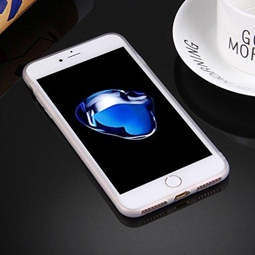 iPhone Case Cover Housse de protection TPU pour iPhone 7 Plus solide sans trou rond ( Color : White ) White