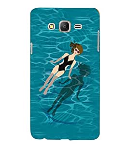 Printvisa Premium Back Cover Relaxing Girl In A Pool Design For Samsung Galaxy On7::Samsung Galaxy On7 G6000FY