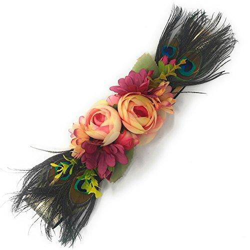 Ever Fairy moda flor cinturones para mujer niña dama de honor vestido de  satén cinturón boda 03022df445b8