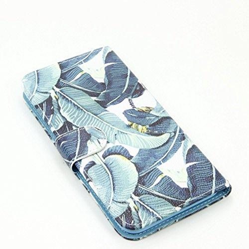 iPhone 6 Plus Hülle,iPhone 6 Plus Tasche,iPhone 6s Plus Hülle, iPhone 6 Plus iPhone 6S Plus Leder Cover,Cozy Hut PU Leder Hülle für iPhone 6 6S Plus Ledertasche Schutzhülle Case[Stand Feature] Flip Ca Blatt