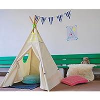 Tipi für Kinder handmade als Spielzelt oder Indianerzelt aus Naturmaterialien