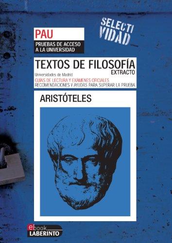 Selectividad. Textos de filosofía. Extracto de Aristóteles por Jesus Pichel Martín
