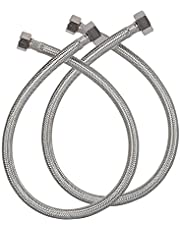 Alton ALT2065 24-inch, 304 Grade Stainless Steel Connection Pipe, (2 Pec. Set), Grey