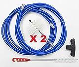 Kit 6MT + 2Bürsten Pellet 80mm–Reinigung Pelletofen Rohr Ofenrohr
