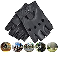 Lyq&st Men's Leather Gloves Thickening Ladies Half Finger Gloves Warm Ski Gloves Pole Dance Street Dance Performance Outdoor Warm Camping & Cycling Sports Gloves