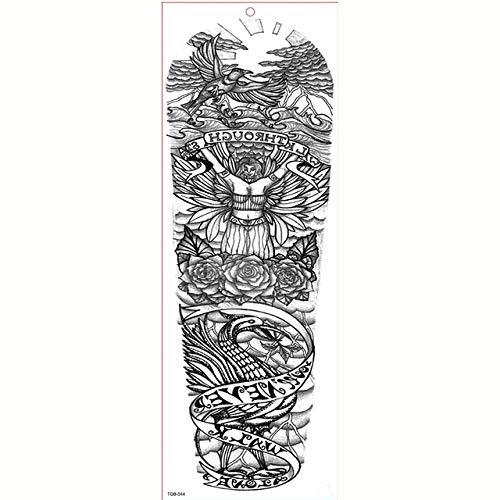 7pcs Stagnola di oro Sticker Tattoo Tattoo braccio manicotti del tatuaggio il tatuaggio impermeabile Grande
