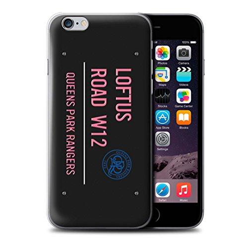 Offiziell Queens Park Rangers FC Hülle / Case für Apple iPhone 6S / Weiß/Rosa Muster / QPR Loftus Road Zeichen Kollektion Schwarz/Pink