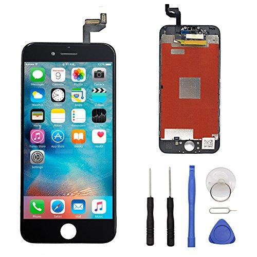 iPhone 6s Komplettes Display Ersatz Set Schwarz, Reparatur Glas mit Komplettset Werkzeuge LCD mit,Touchscreen,Display, Kamera & Näherungssensor - Einfache Installation. …