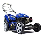 Hyundai 173 cc Petrol Self Propelled 4-in-1 Rotary Lawn Mower with 7 Cutting Heights, Soft Grip Handle HYM51SP
