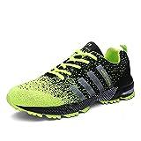 Kuako Hombre Zapatos para Correr Transpirables Resistente Running Zapatillas de Deporte Mujer
