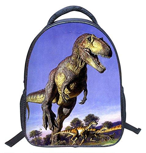 Imagen de moolecole unisex 3d animales imprimir  dinosaurio para niños  para niños  muchachas de los muchachos del niño del bolso de escuela de guardería alternativa