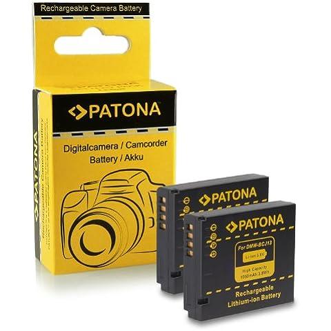 2x Batería Panasonic DMW-BCJ13 / Leica BP-DC10E para Panasonic Lumix DMC-LX5 | DMC-LX7 | Leica D-LUX 5 | D-LUX 6