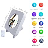 from ALICE DREAMS CD Player Speaker Wall Mountable Bluetooth Boombox Portable Home Audio with Remote Control FM radio Built-in HiFi Speakers USB MP3 3.5mm Headphone Jack AUX input/output (White)