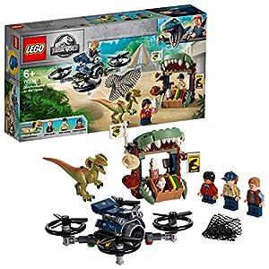 LEGO Jurassic World - Dilofosaurio a la Fuga Set de construcción de Aventuras con Figura de Dinosaurio, incluye un dron de Juguete, Novedad 2019 (75934)