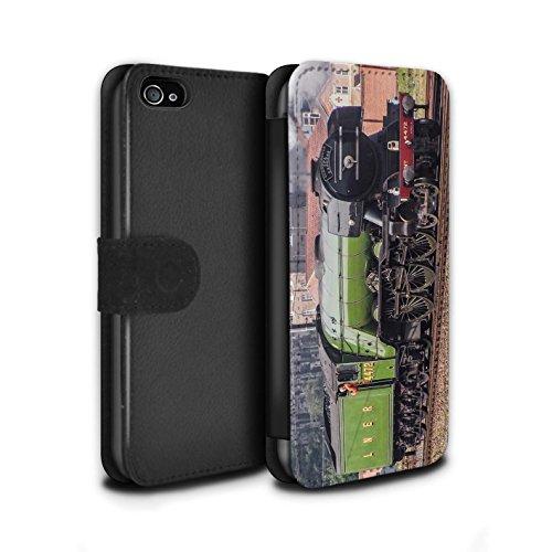 Stuff4 Coque/Etui/Housse Cuir PU Case/Cover pour Apple iPhone 4/4S / Duchess/Gare Design / Locomotive Vapeur Collection Flying Scotsman