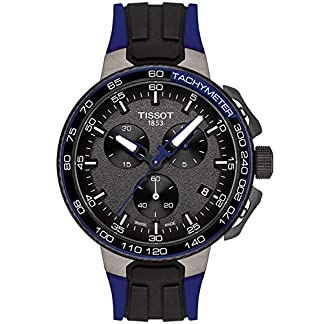Tissot T-RACE CYCLING NAVY SILIKON T111.417.37.441.06 Cronógrafo para hombres