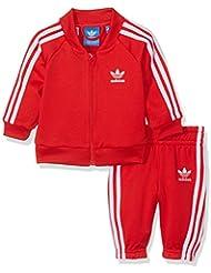 adidas Superstar Chándal, otoño/invierno, infantil, color Vivid Red/White, tamaño 12 meses (80 cm)