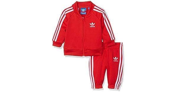 adidas Kinder Superstar Trainingsanzug, Vivid RedWhite, 62