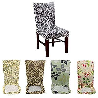 6 Pcs Elastic Dining Room Wedding Banquet Chair Cover Washable Slipcover New - low-cost UK light store.