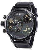 AMPM24 WAA929-Orologio da polso uomo,Dual-time/Analogico Quarzo,colore:Nero