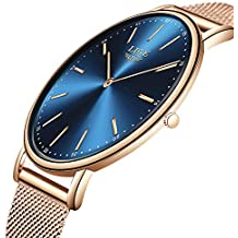... relojes hombre el corte ingles. LIGE Hombres Mujeres Unisex Reloje Moda Ocio Simple De Cuarzo Analógico Impermeable Reloje Rosa Dorado Azul