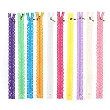 10st 30cm kanten rits nylon rits gemengde kleur stijl knop zijden vorm voor het naaien van kledingaccessoires