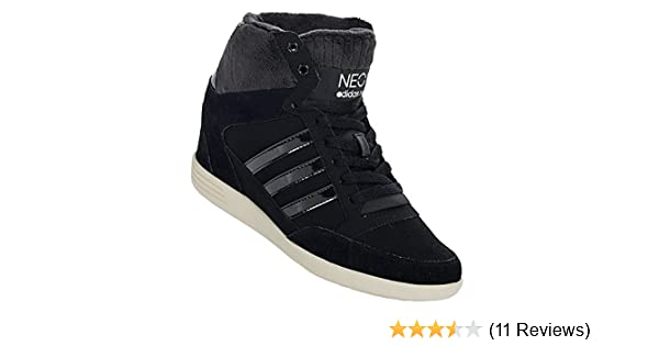 697fe51030d2 adidas Womens NEO Womens Super Wedge Trainers in Black - UK 7  Amazon.co.uk   Shoes   Bags