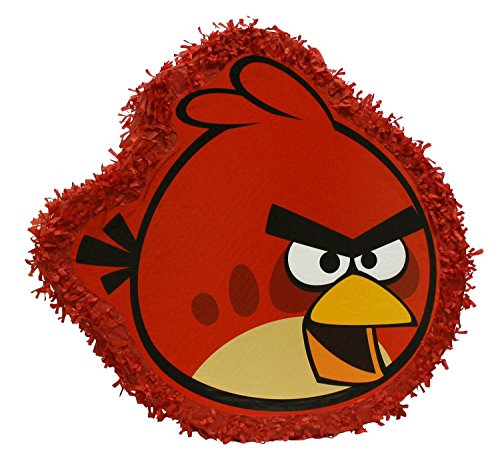 ta Angry Birds - circa 48 x 50 x 8.5 cm zum Befüllen, rot (Angry Birds-pinata)