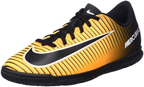 Nike Unisex-Kinder Jr. MercurialX Vortex III IC Fußballschuhe, (Laser Orange/Black-White-Volt), 38.5 EU -
