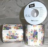 1 Stück LOLLIPOP® 'Happy B-day'-Toilettenpapier-Rolle, 3-lagig, 200 Blatt