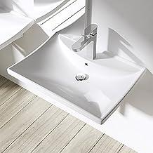 Waschbecken eckig ohne hahnloch  Suchergebnis auf Amazon.de für: waschbecken eckig 60 cm