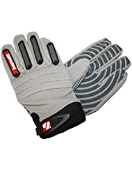 FKG-02 Par de guantes de fútbol americano para linebacker fit, LB,RB,TE (L)