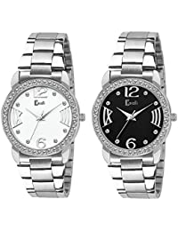 Cavalli Analogue Black&White Dial Women'S And Girl'S Watch-Combo Of 2 Exclusive Watches-CW556
