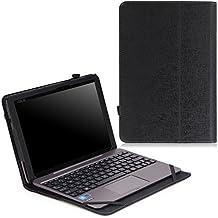 MoKo Asus Transformer Book T100HA Funda - Slim Folding Keyboard Portfolio Cover Funda Para Asus Transformer Book T100Ha Windows 10 2-In-1 Laptop (Not Fit For T100 Chi), Negro