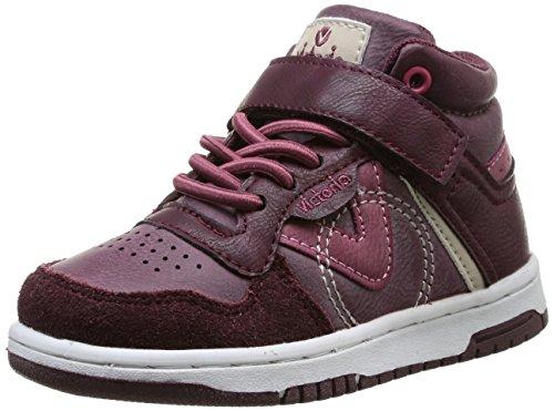 Victoria Sneaker Velcro Pu Serraje, Boots mixte enfant - Marron (Morado), 31 EU